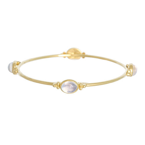 14kt Yellow Gold Moonstone Bangle