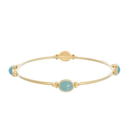 14kt Yellow Gold Aqua Bangle