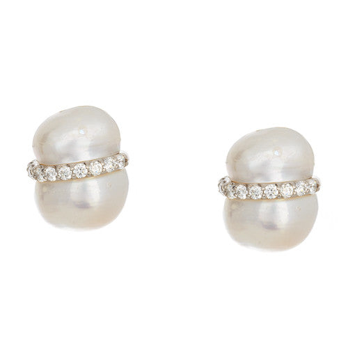 Freshwater Peanut Pearl Earrings