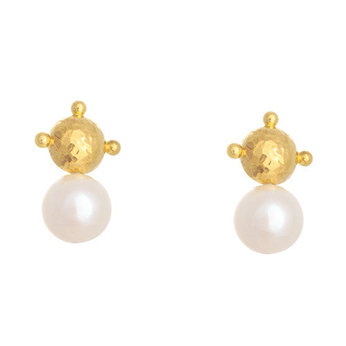 LPL Signature Collection Half Dome Pearl Earrings