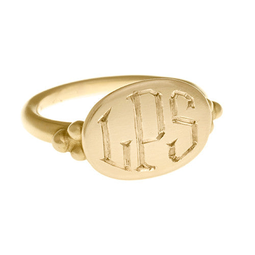 Yellow Gold Intaglio Ring