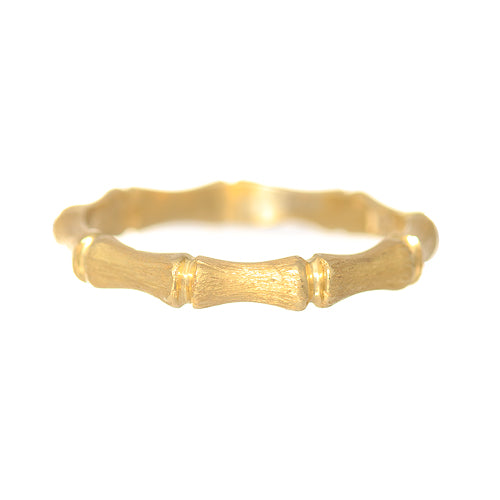 18kt Yellow Gold Bamboo Ring
