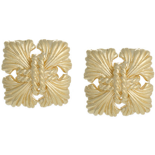 LPL Signature Collection 18kt Yellow Gold Maltese Earrings
