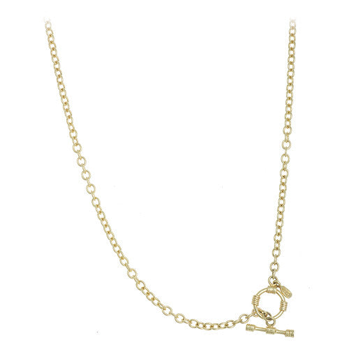 14kt Yellow Gold Toggle Cable Chain