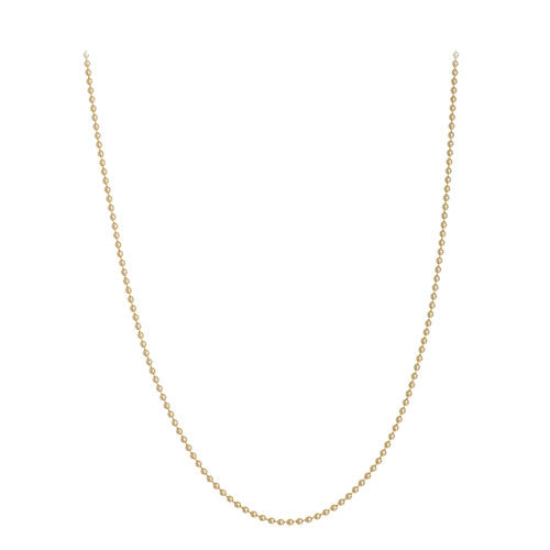 14kt Yellow Gold Beaded Chain