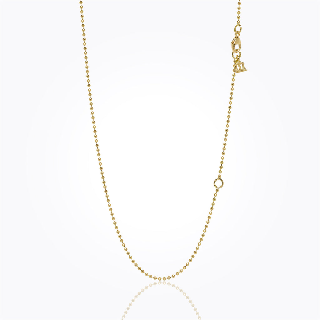 "Temple St. Clair 18K Yellow Gold Ball Chain - 16"" with 2"" extender"