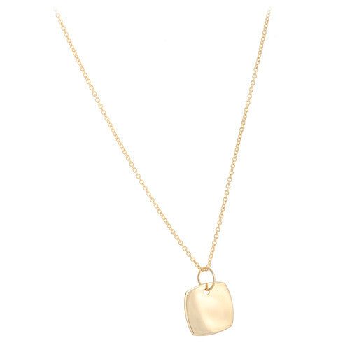 14kt Yellow Gold Cushion Shaped Pendant