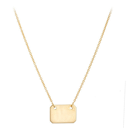 14kt Yellow Gold Tag Pendant on Chain