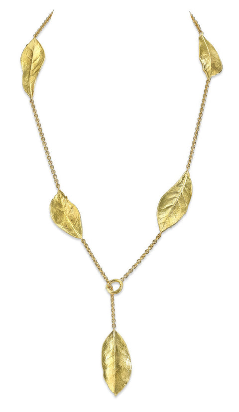 Aaron Henry Five Southern Oak Leaf Necklace