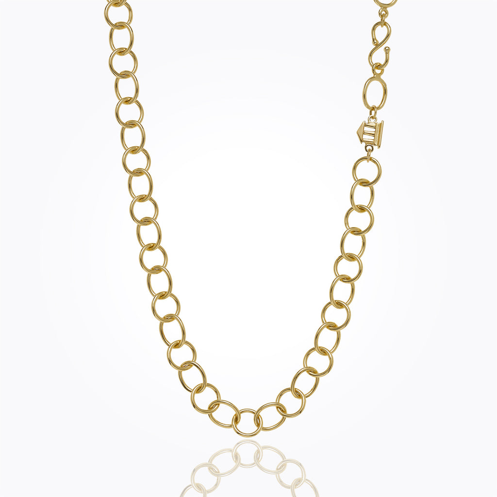 Temple St. Clair 18K Yellow Gold Classic Arno Chain - 32""