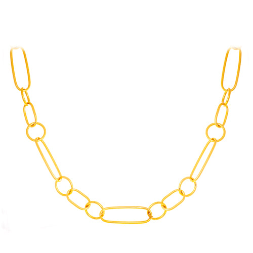 18k Yellow Gold Link Necklace