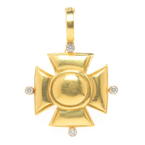 "LPL Signature Collection ""The Elizabeth"" 18kt Yellow Gold Maltese Pendant"