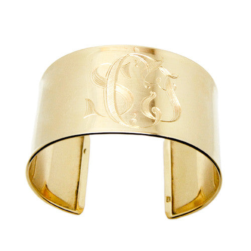 14kt Yellow Gold Wide Cuff
