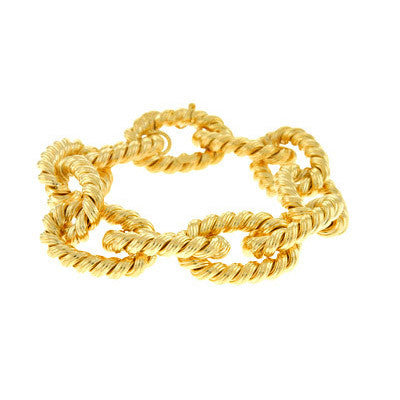 14kt Yellow Gold Rope Bracelet