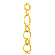 18k Yellow Gold Oval and Round Link Bracelet