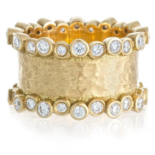 LPL Signature Collection 18kt Yellow Gold and Diamond Band