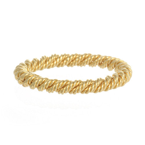 18kt Yellow Gold Textured Twist Band