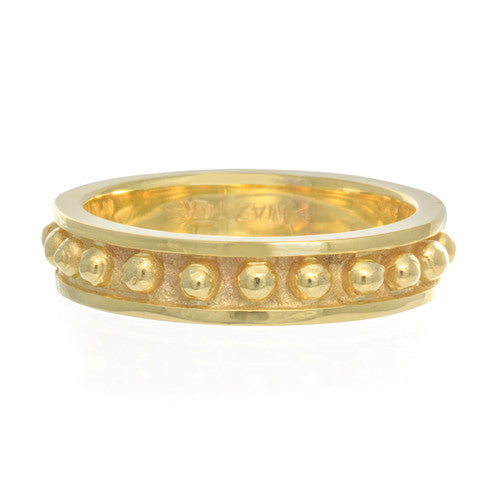 14kt Yellow Gold Caviar Band