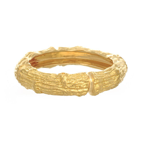 Aaron Henry 19kt Yellow Gold Large Branch Band