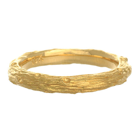 Aaron Henry 19kt Yellow Gold Small Branch Band