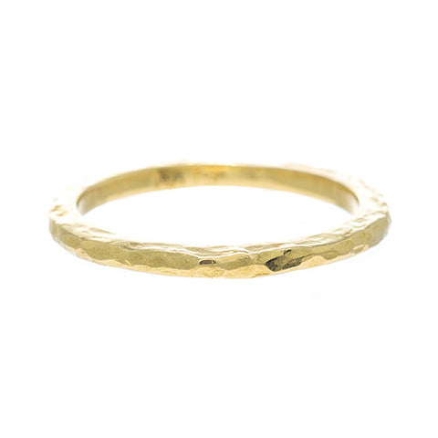 LPL Signature Collection 18 Karat Yellow Gold Hammered Band 2mm