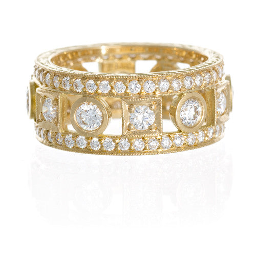 Penny Preville 18kt Yellow Gold and Diamond Band