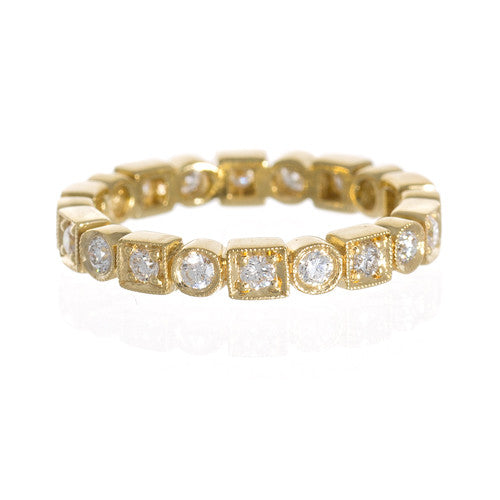 Penny Preville 18kt Round and Square Diamond Band