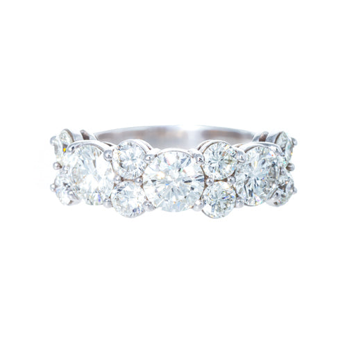 Platinum Mixed Round Brilliant Diamond Band
