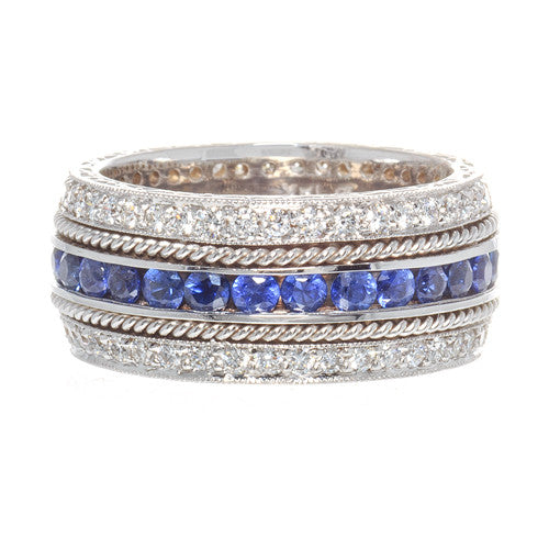Penny Preville Sapphire and Diamond Band
