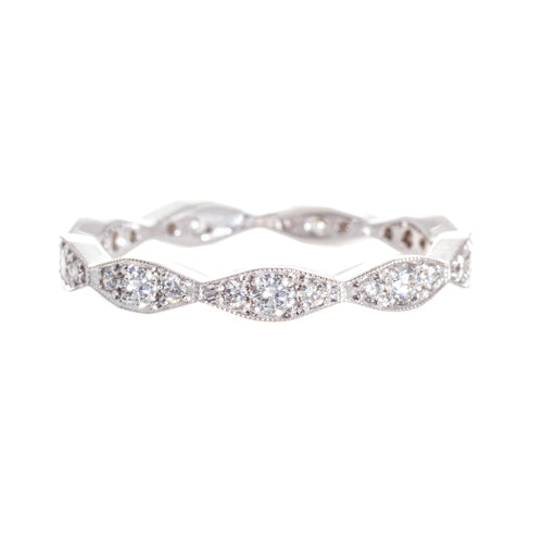 Platinum Marquise Shape Diamond Band