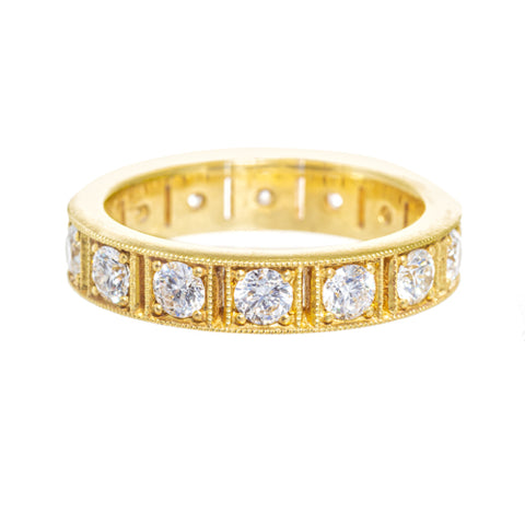 LPL Signature Collection 18k Yellow Gold and Diamond Band