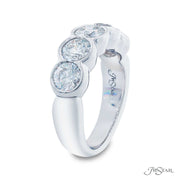 JB Star Platinum Bezel Set Round Cut Diamond Band