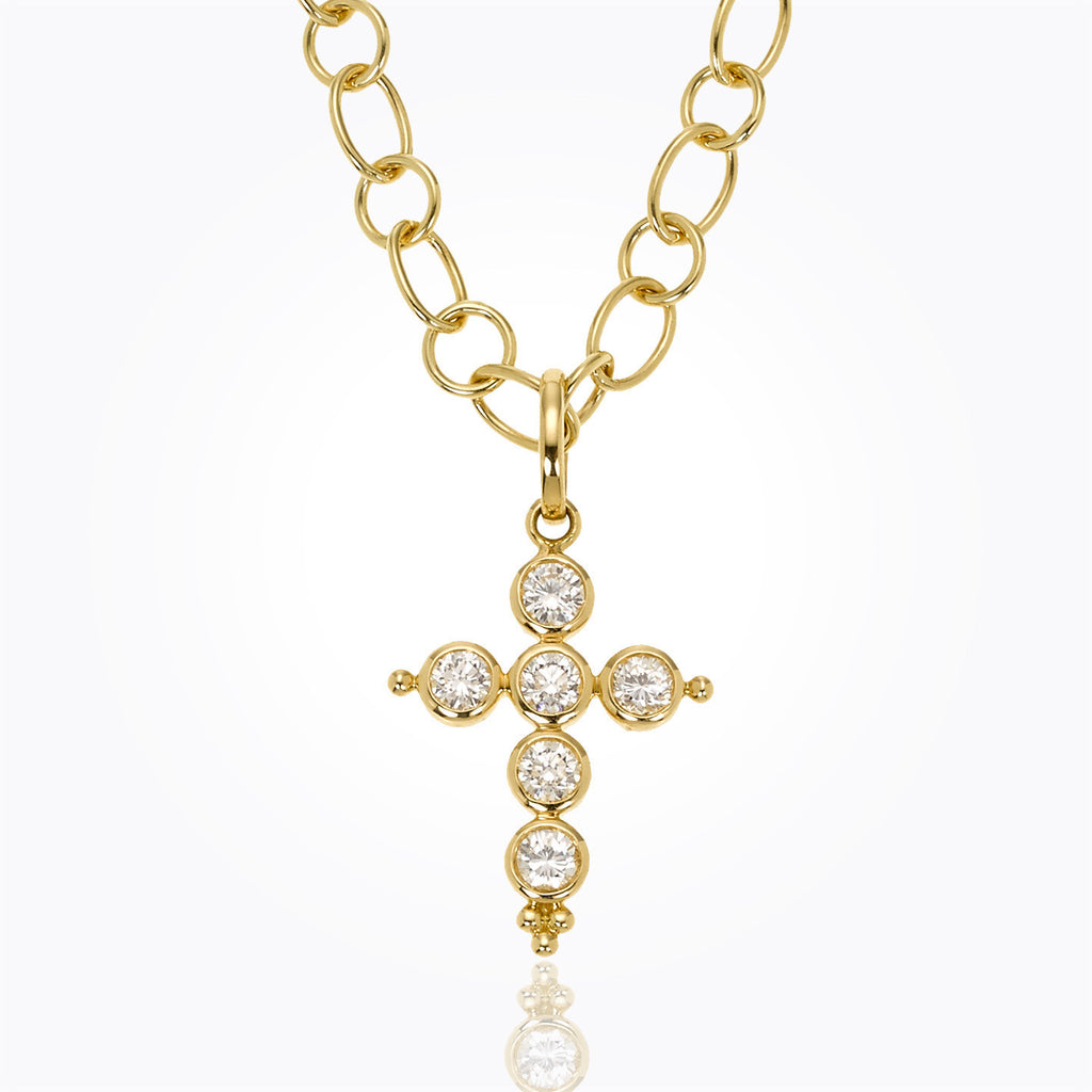 Temple St. Clair 18K Classic Diamond Cross Pendant