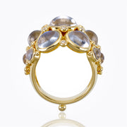 Temple St. Clair 18K Bombe Ring with Royal Blue Moonstone and Diamond