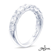 JB Star Platinum Square Emerald Cut Diamond Band