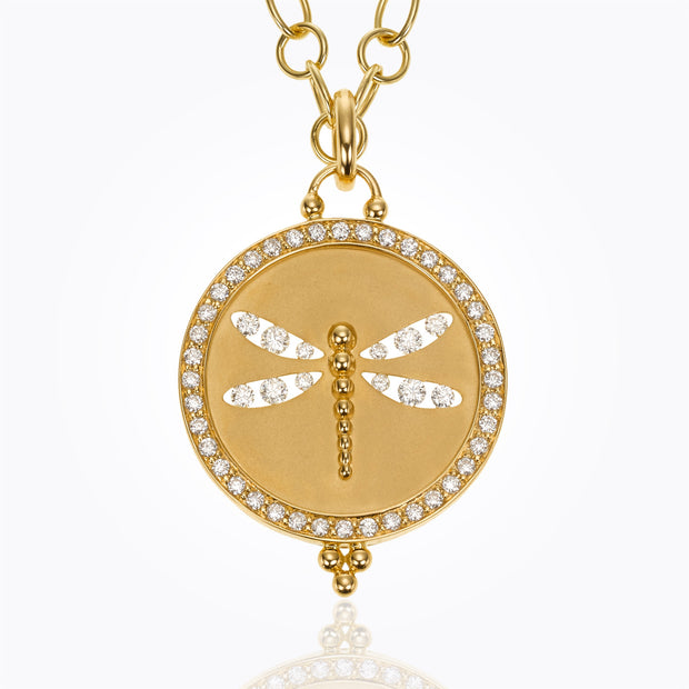 Temple St. Clair 18k Yellow Gold Diamond Dragonfly Enhancer