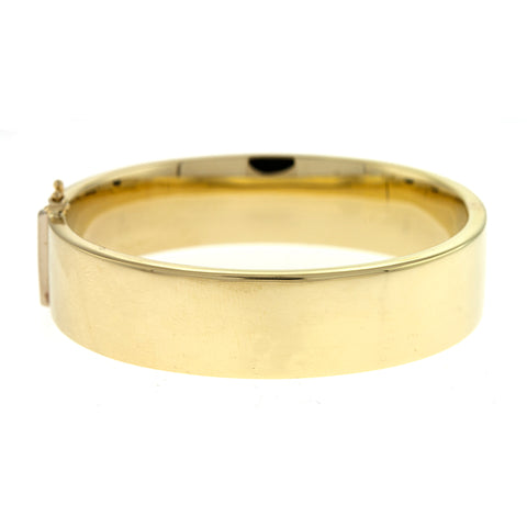 14k Yellow Gold Flat Polished Bangle