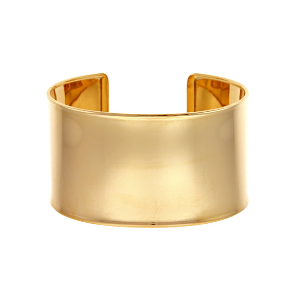 14k Yellow Gold Wide Cuff