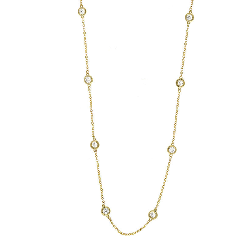 14kt Yellow Gold Diamond by the Yard Necklace