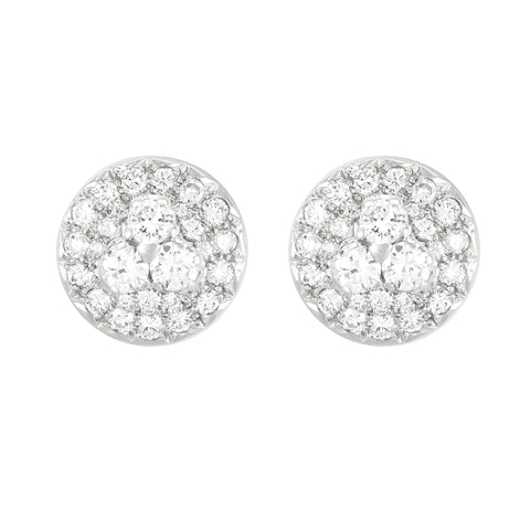 Estate Diamond Cluster Studs