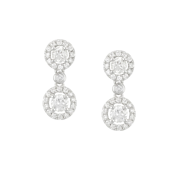 14k White Gold Diamond Illusion Drops