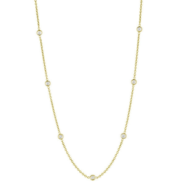 Penny Preville 18kt Yellow Gold Diamond Eyeglass Chain