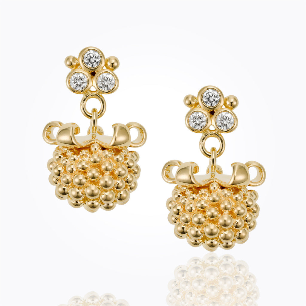 Temple St. Clair 18K Large Pod Earrings with Diamonds