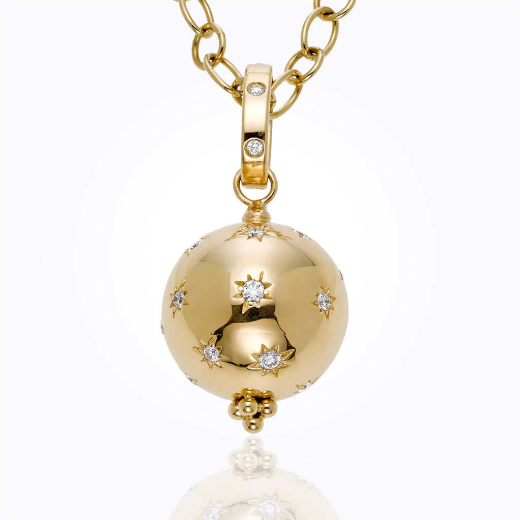 Temple St. Clair 18K Yellow Gold Cosmos Pendant with Diamonds
