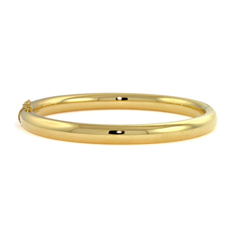 18k Yellow Gold Tube Bangle