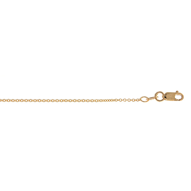 18k Gold Cable Chain Necklace, 1.3mm