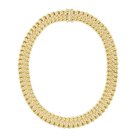 Estate 18k Yellow Gold Chain Necklace