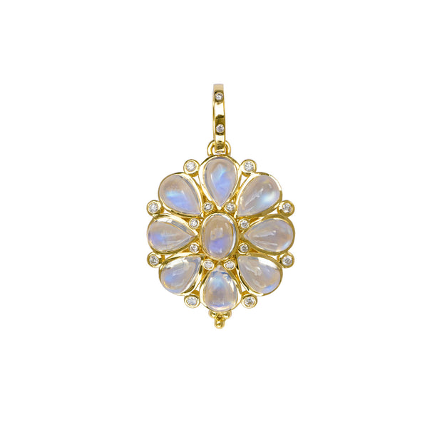 Temple St. Clair 18k Yellow Gold Moonstone Blossom Pendant
