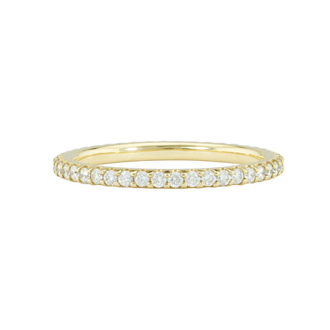 18k Yellow Gold Shared Prong Set Diamond Eternity Band