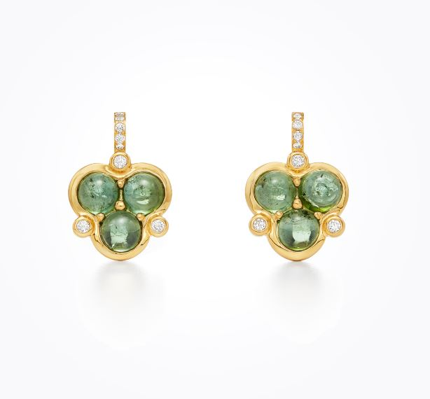 Temple St. Clair 18k Yellow Gold Green Tourmaline Studs